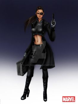 Avengers: Nick Fury Female by aerith0808