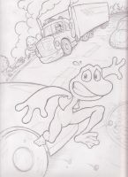 Frogger sketch by mattdog1000000
