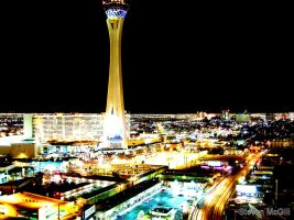 Las Vegas from Sahara by lampshad