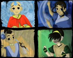 The Aang Gang by Vyntresser