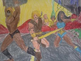 Thundarr, Ariel and Ookla the Mok Close Up by dhbraley