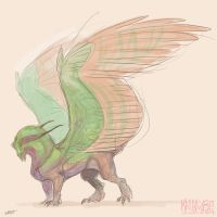 Moth beast sketch 1 by kalambo