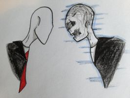 Slenderman and Mark Slender by Baka2niisan