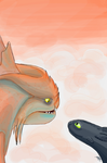 Cloudjumper and Toothless above the clouds by daniela2706