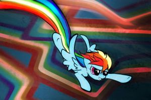 Dashing Rainboom by Kna