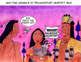 Why the animals in Pocahontas by Chepseh