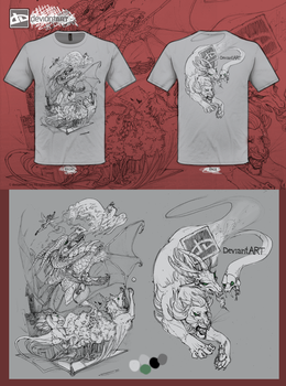 Fantasy leaps shirt entry by Anarchpeace