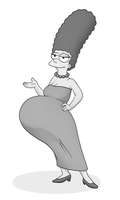 Iron Artist 2013 - Pregnant Marge Simpson by RiddleAugust