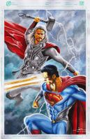 MAN OF STEEL vs THOR by Ianrialdi