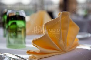 Napkins on table by Hastudio