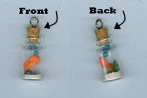 Clay Goldfish Bottle Charm by AngelVoice113