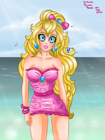 Peach Beach swimsuit fashion style 50 by JamilSC11