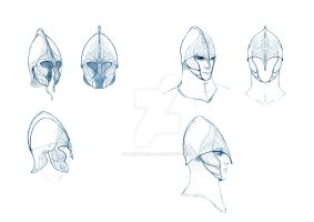 Helmets of Eldar 2 by meneldil-elda