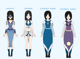 .: Kara Water Tribe Outfits :. by Squirrelette