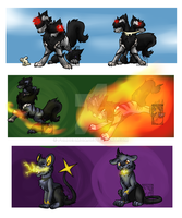 Cerberus And Rhys (lvl payment) by foxdeamon