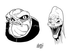 Toadman and Toothy by SeanRM
