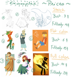 Commissions prices by Jeananas