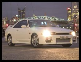 R33 Skyline by the docks by syncore