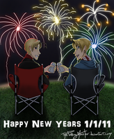 APH Canada and USA New Years by ThePuddingMonster
