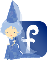Facebook blue fairy by mairimart