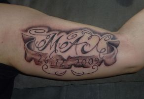 lettering tattoo by D3adFrog