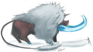 Colossal ice boar by MatchLight