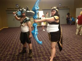Ikasucon 2013 - Ashe and Tryndamere by GoodDokCosplay