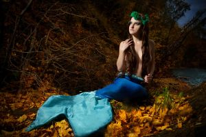 Autumn mermaid by diacita
