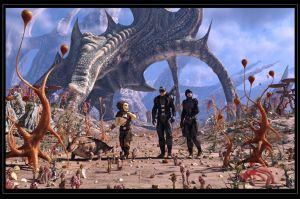 Explorers On A Strange Planet by neanderdigital