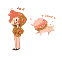 Donut Human by temporaryWizard