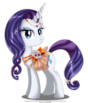 May Festival Pony - Rarity by selinmarsou