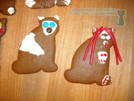 Gingerbread Cats 01 by ConfusedLittleKitty