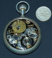 Steampunk Pocket watch by Phoenix-Cry
