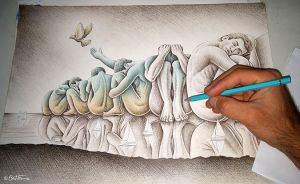 Los Gigantes (Sketch in Progress) by BenHeine