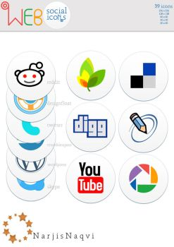 Web social icons by NarjisNaqvi