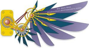 Steampunk Wing Tattoo Design by NepherimCrystal