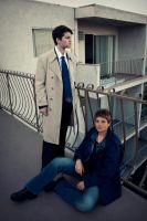 Dean Winchester and Castiel by TemaTime