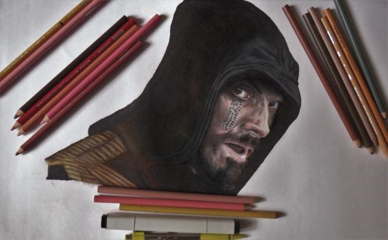 Drawing ASSASSIN'S CREED MOVIE POSTER by JunkDrawings