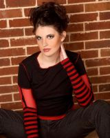 Red and Black Girl Stock 9 by kristyvictoria