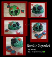 Zombie Cup Cake by Wolfriderxangel