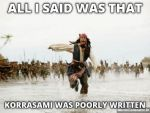 Jack Sparrow Being Chased By Korrasami fans by godofwarlover