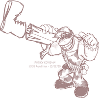 Sketch - Funky Kong by kevinxnelms