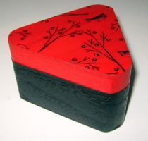 Little Red Sparrow Trinket Box by AknieGirl