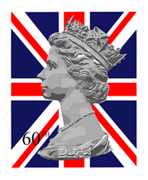 Queen Elizabeth II - Diamond Jubilee stamp by SE7EN-OF-N9NE