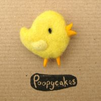Easter Chick Brooch by Poopycakes-makes
