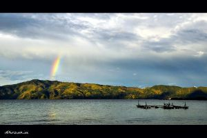 Rainbow on Top of Toba by hirza