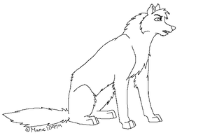 Wolf Lineart by Manic10974