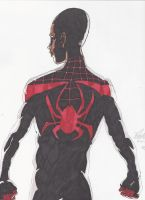 Spider-Man Miles Morales in color by Colelightning