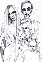 The Addams family by queentawne