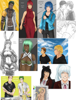 RWBY sketchdump July 2014 by LutherOMight